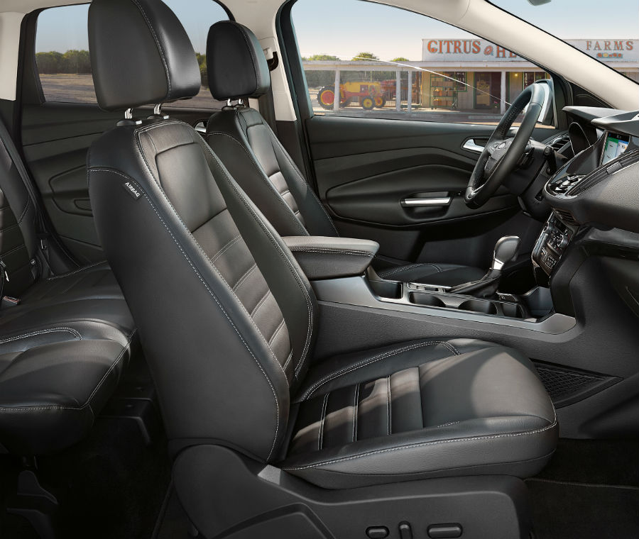 side view of the front interior of a 2019 Ford Escape