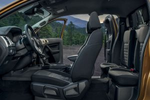 side view of the full interior in a 2019 Ford Ranger