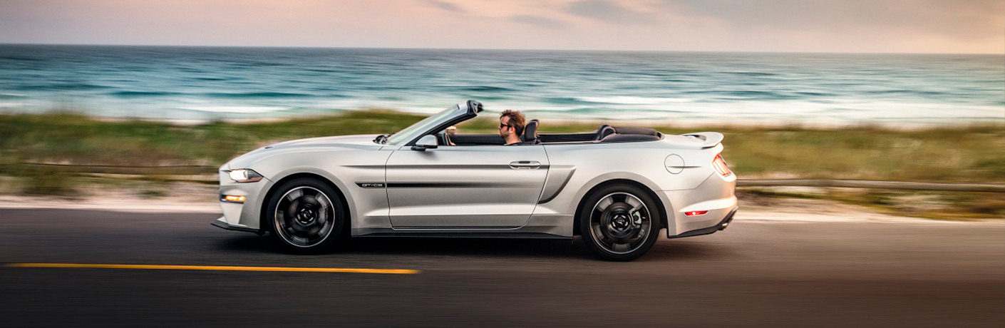 2019 Ford Mustang Cruising Down Coastal Highway