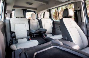 2019 Ford Transit Connect Passenger Wagon Six-Passenger Seat Layout