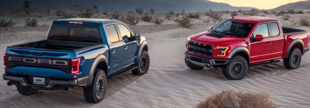 2019 Ford F-150 Raptor in Red and Blue