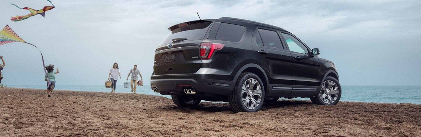 2019 Ford Explorer by Family on a Beach