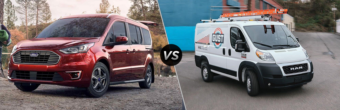 2019 Ford Transit Connect Passenger Wagon vs 2019 Ram ProMaster
