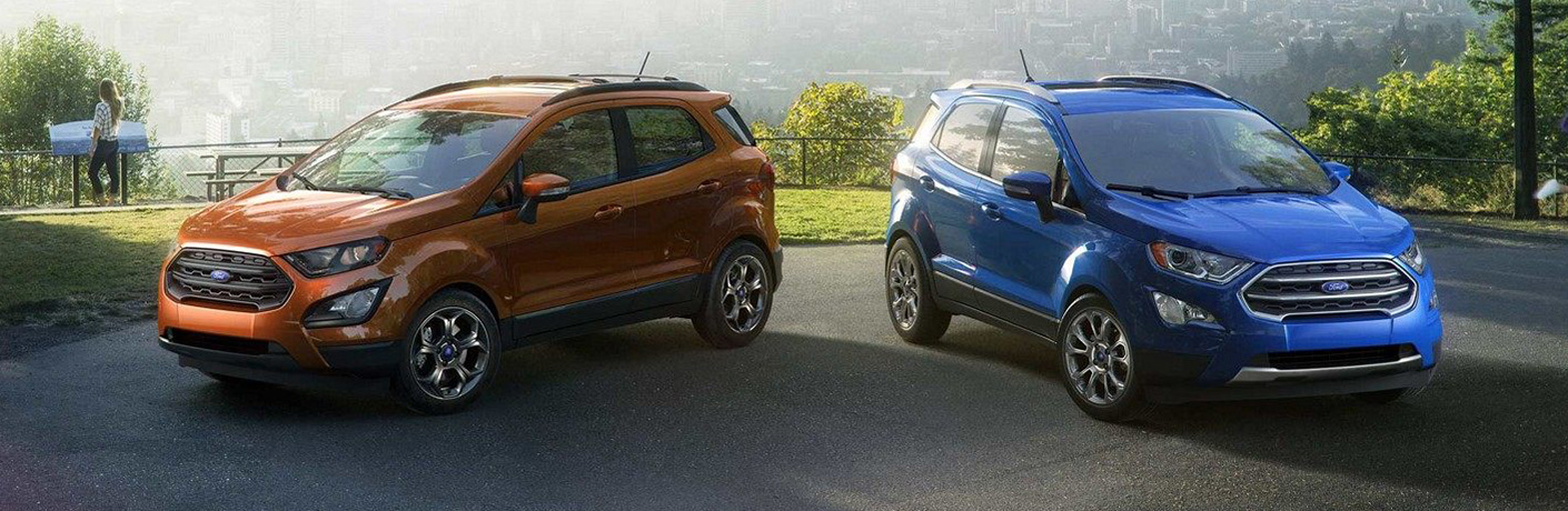 2019 Ford EcoSport in orange and blue