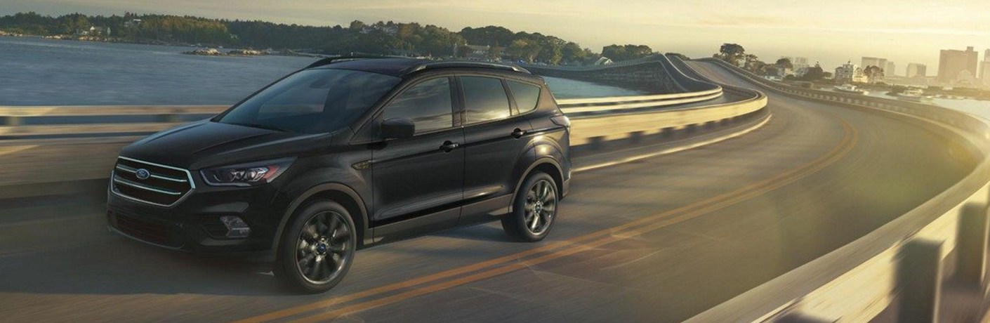 2019 Ford Escape driving over bridge