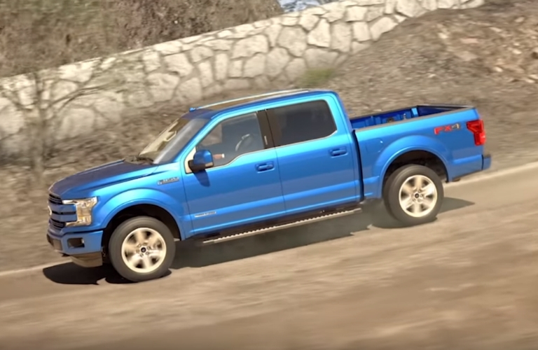2019 Ford F-150 driving downhill