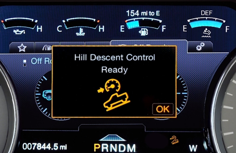 Hill Descent Control message in 2019 Ford F-150
