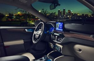 2020 Ford Escape dashboard and steering wheel