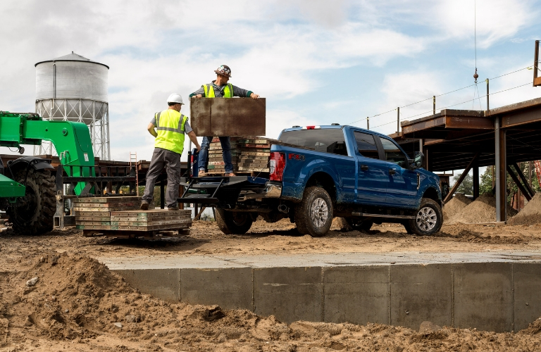 2020 Ford Super Duty on construction site