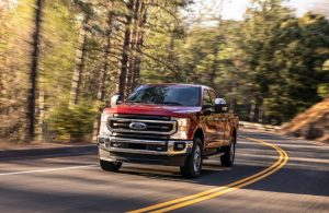 2020 Ford Super Duty on rural road