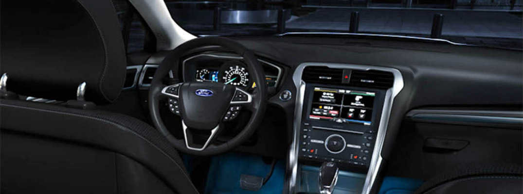 Ford Fusion interior with Intelligent Access with Push-Button Start