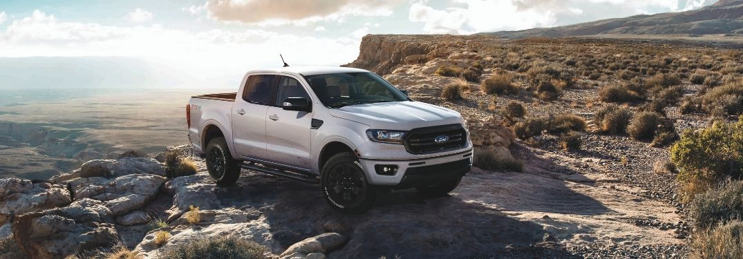 2019 Ford Ranger with Black Appearance Package on desert terrain