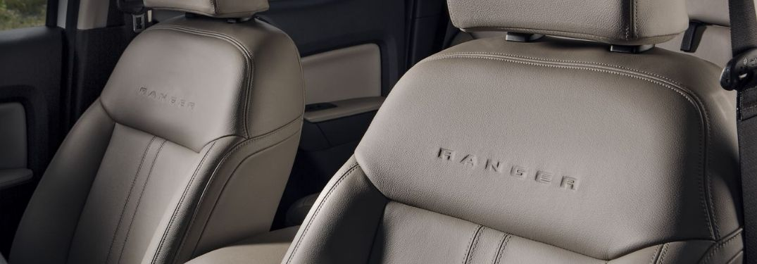 2019 Ford Ranger Leather-trimmed seats with Ranger lettering