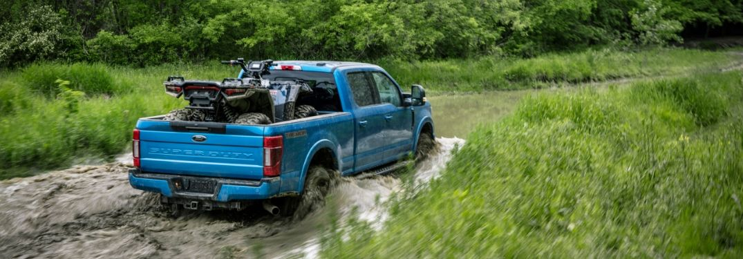 2020 F-Series Super Duty Tremor Package fording through water