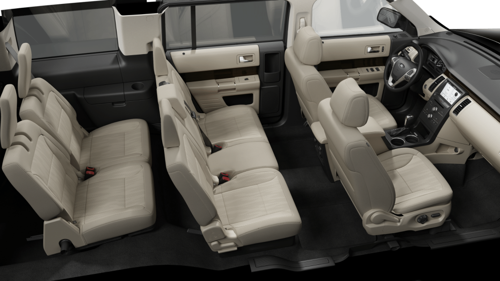2019 Ford Flex cloth seats in beige