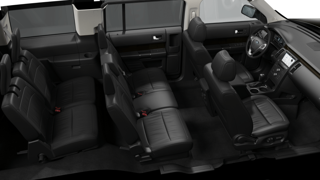 2019 Ford Flex leather seats in black
