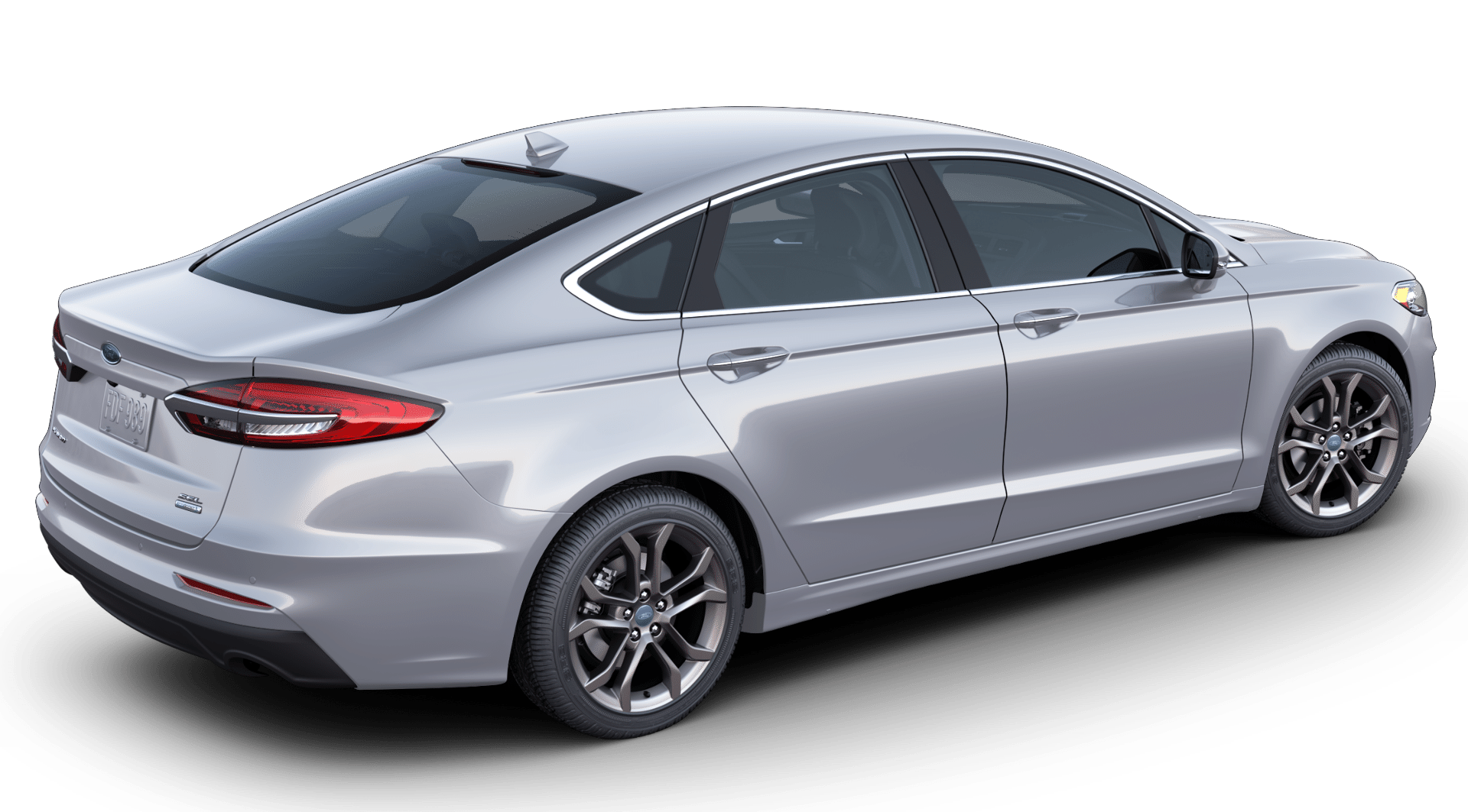 2020 Ford Fusion in iconic silver