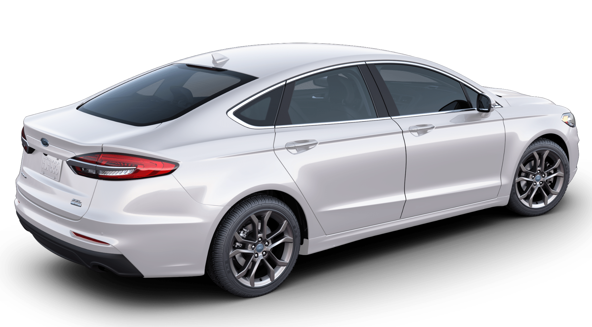 2020 Ford Fusion in oxford white