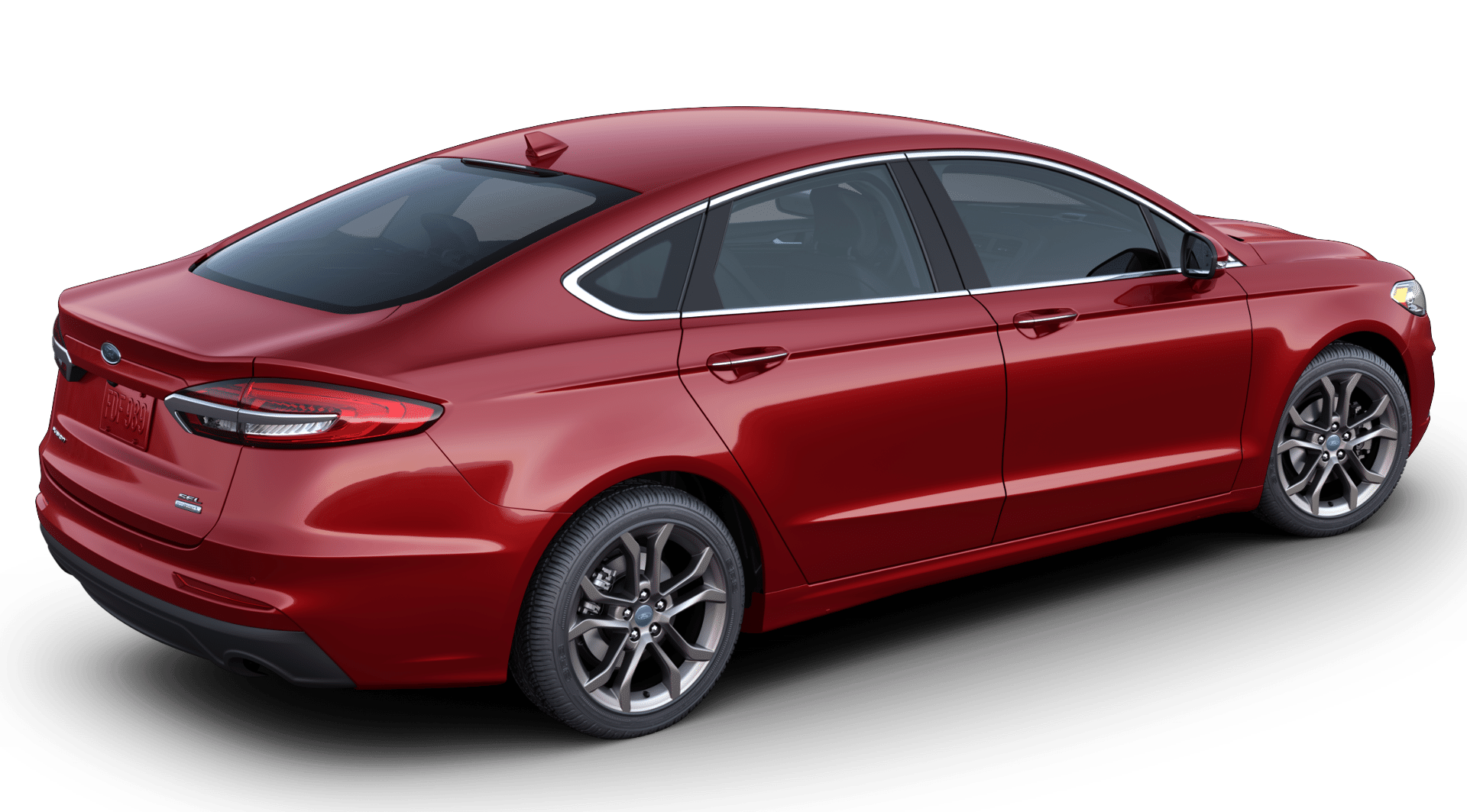 2020 Ford Fusion in rapid red