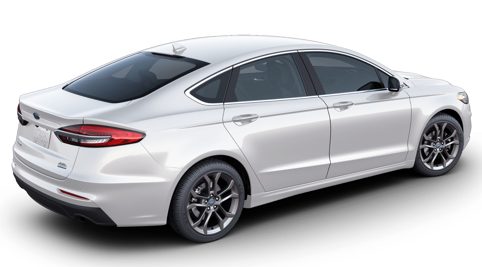 2020 Ford Fusion in white platinum