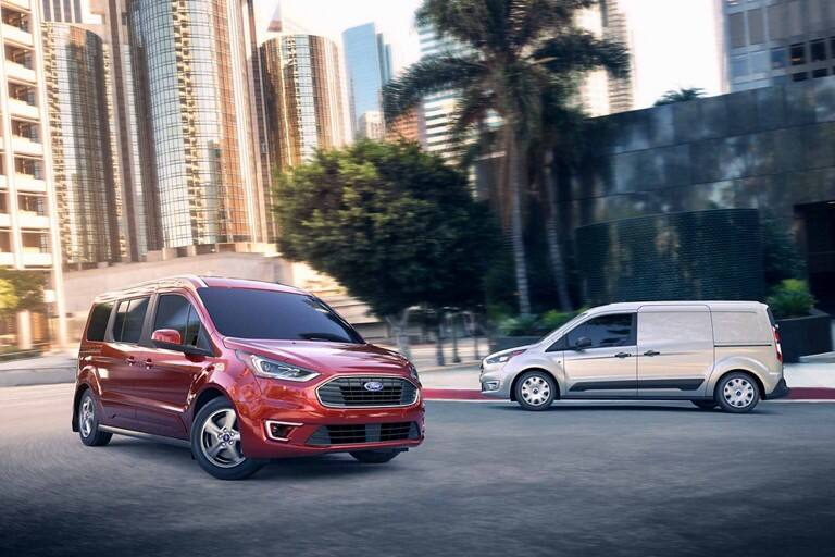2020 Ford Transit Connect models on road