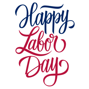 """Happy Labor Day"" text"