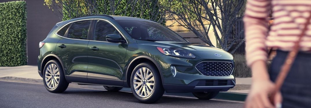 2020 Ford Escape in Dark Persian Green parked on roadside
