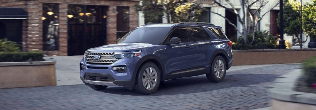 2020 Ford Explorer on town street