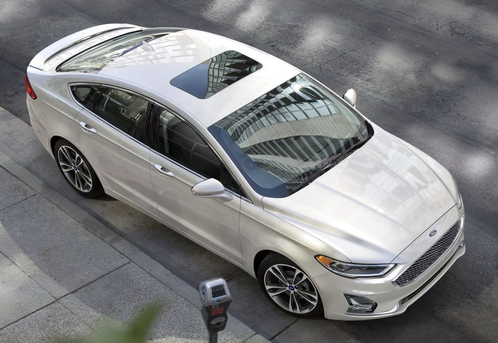 2020 Ford Fusion parked along city street