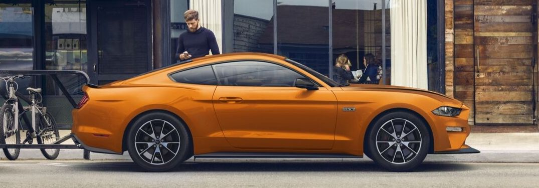 2020 Ford Mustang EcoBoost on city street
