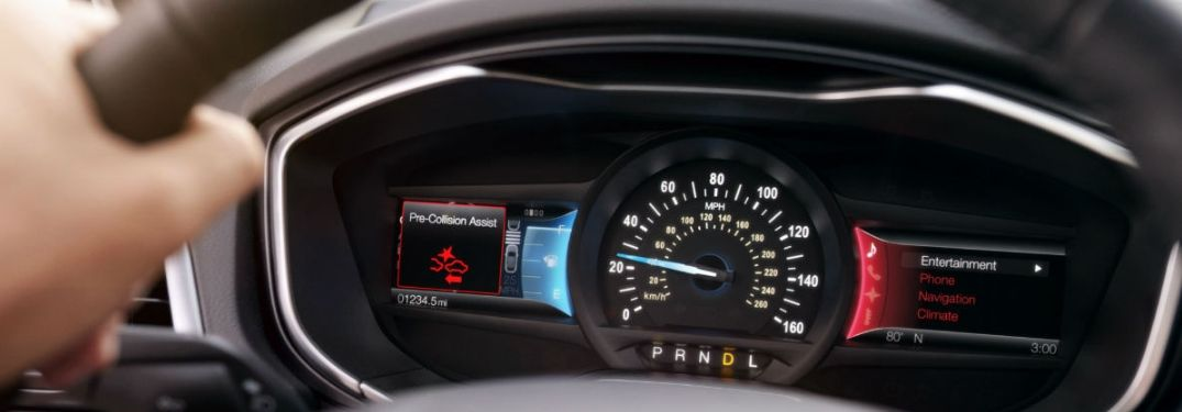 Ford Pre-Collision Assist warning in MID