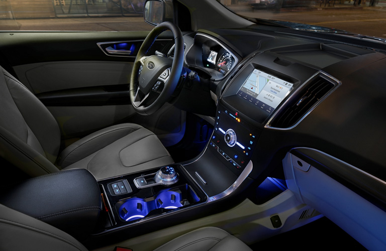 2020 Ford Edge dashboard and steering wheel