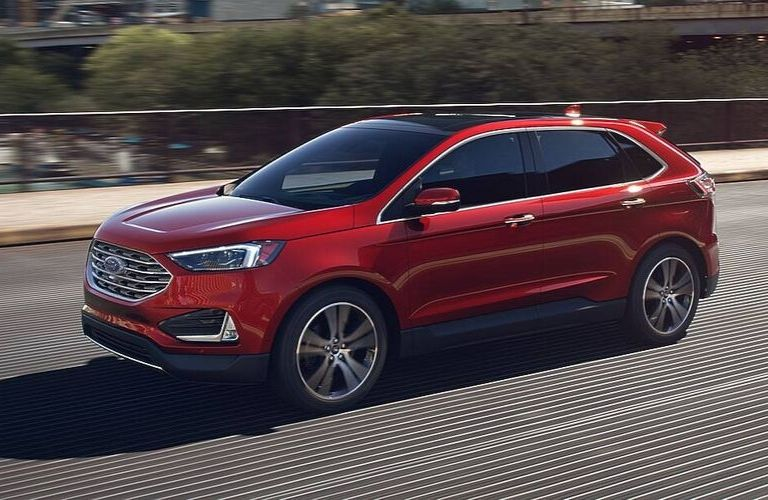 2020 Ford Edge in Rapid Red
