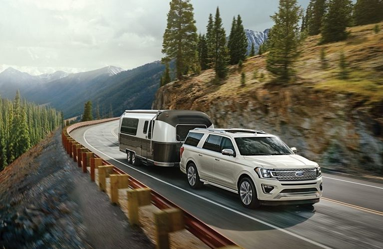 2020 Ford Expedition towing a boat