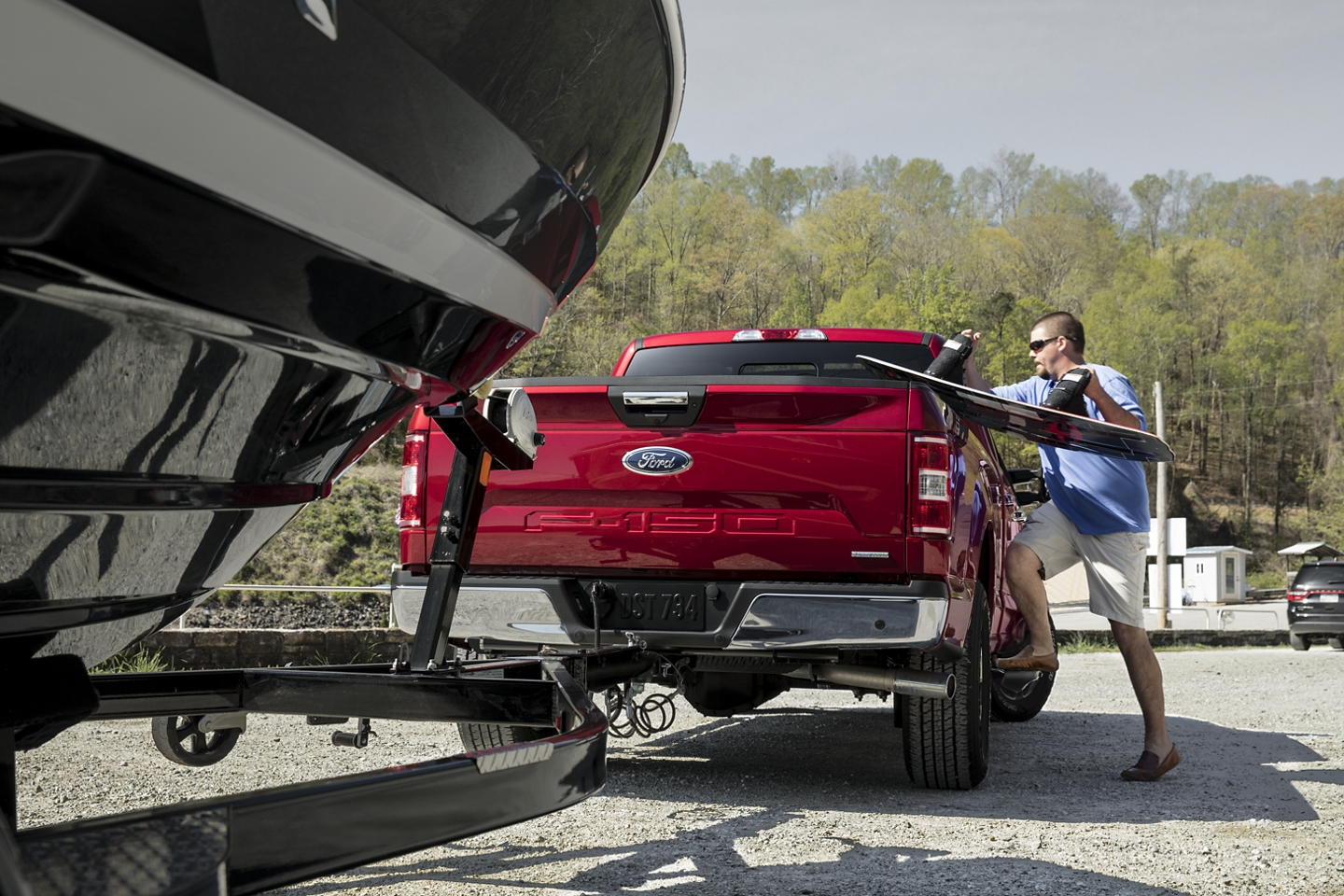 2020 Ford F-150 hitched to a boat