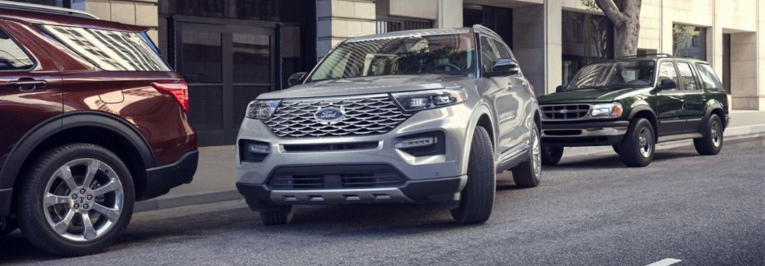 2020 Ford Explorer on city street
