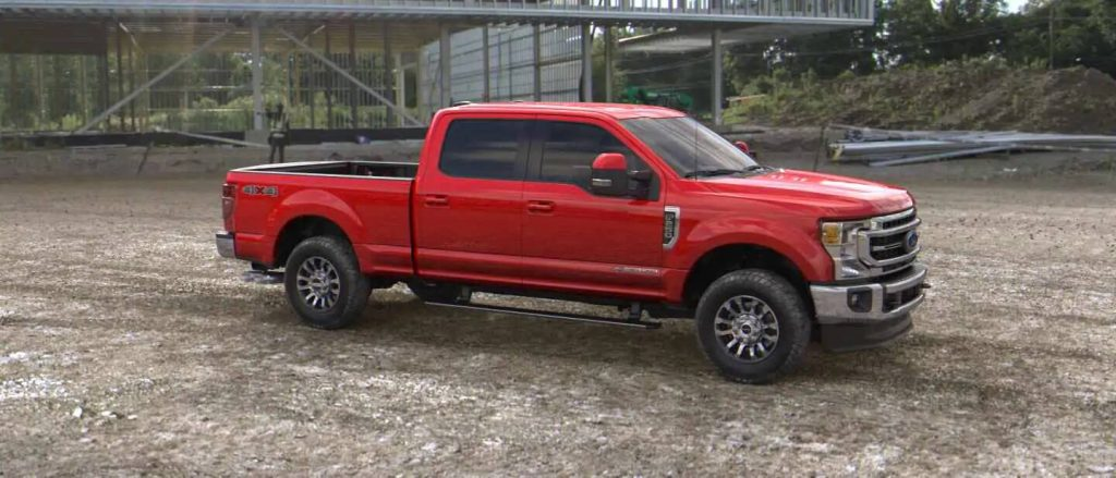 2020 Ford Super Duty in Race Red