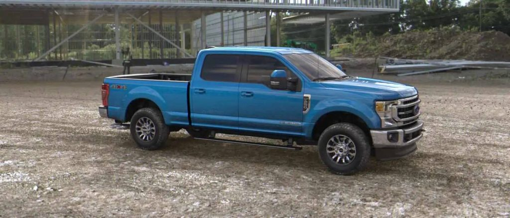 2020 Ford Super Duty in Velocity Blue