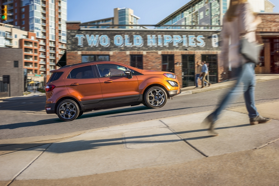 2020 Ford EcoSport driving up hill
