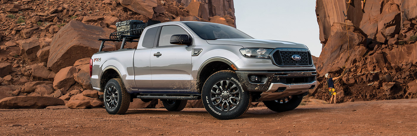 2020 Ford Ranger on rocky desert terrain