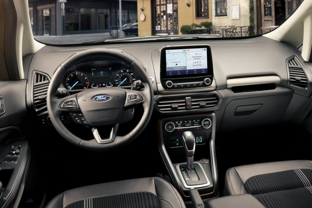 2020 Ford EcoSport 8-inch touchscreen