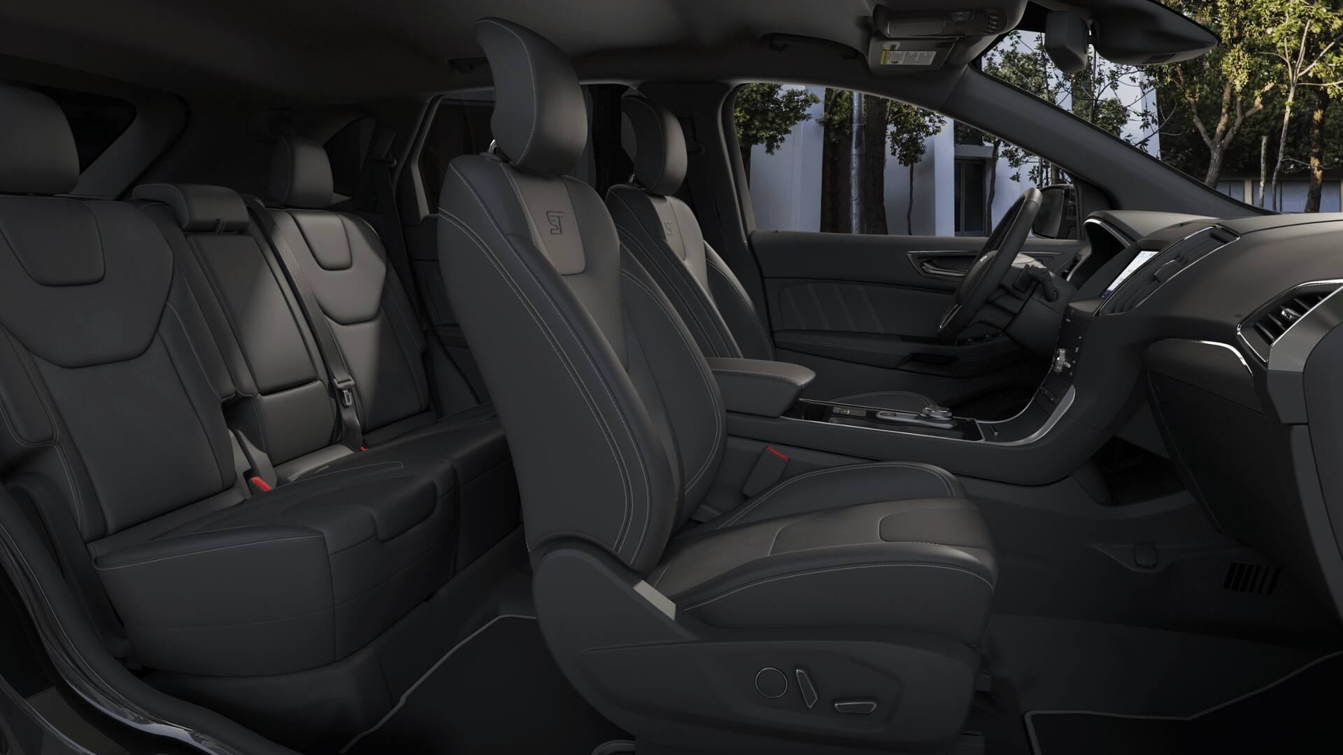2020 Ford Edge interior leather with Miko inserts seating material