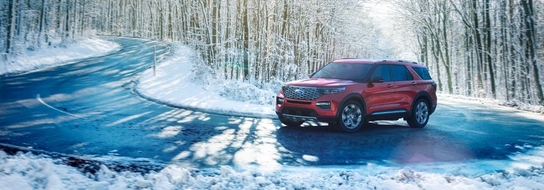 2020 Ford Escape SUV on winter road
