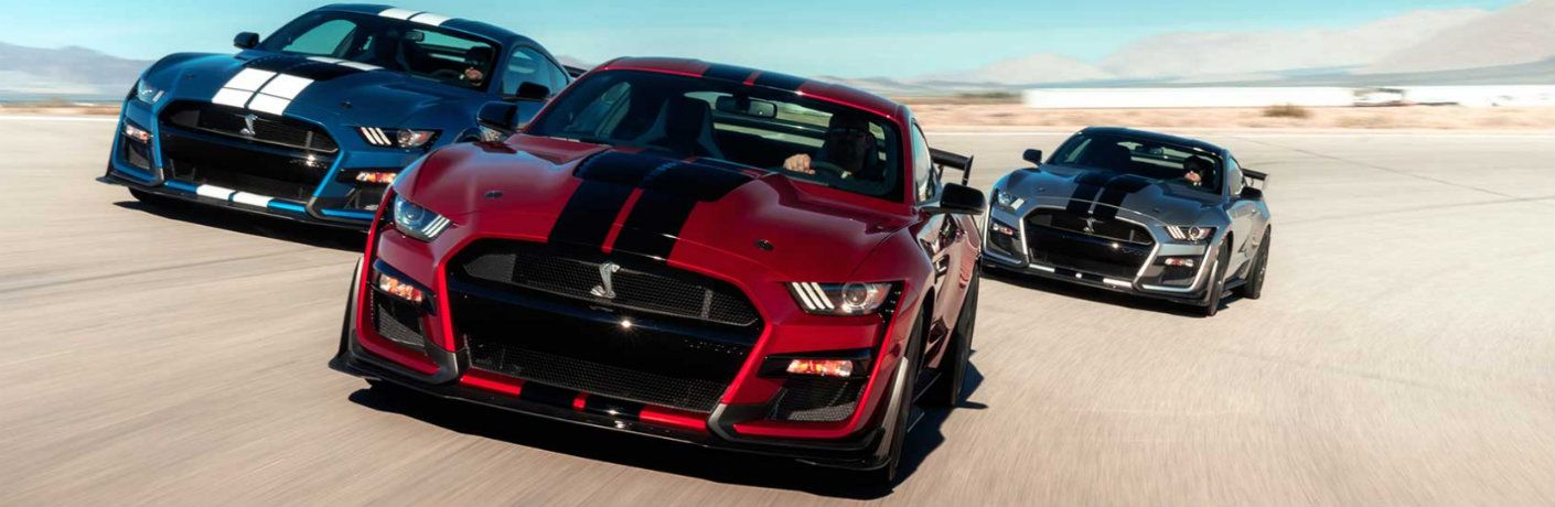 2020 Ford Mustang Shelby GT500 on track