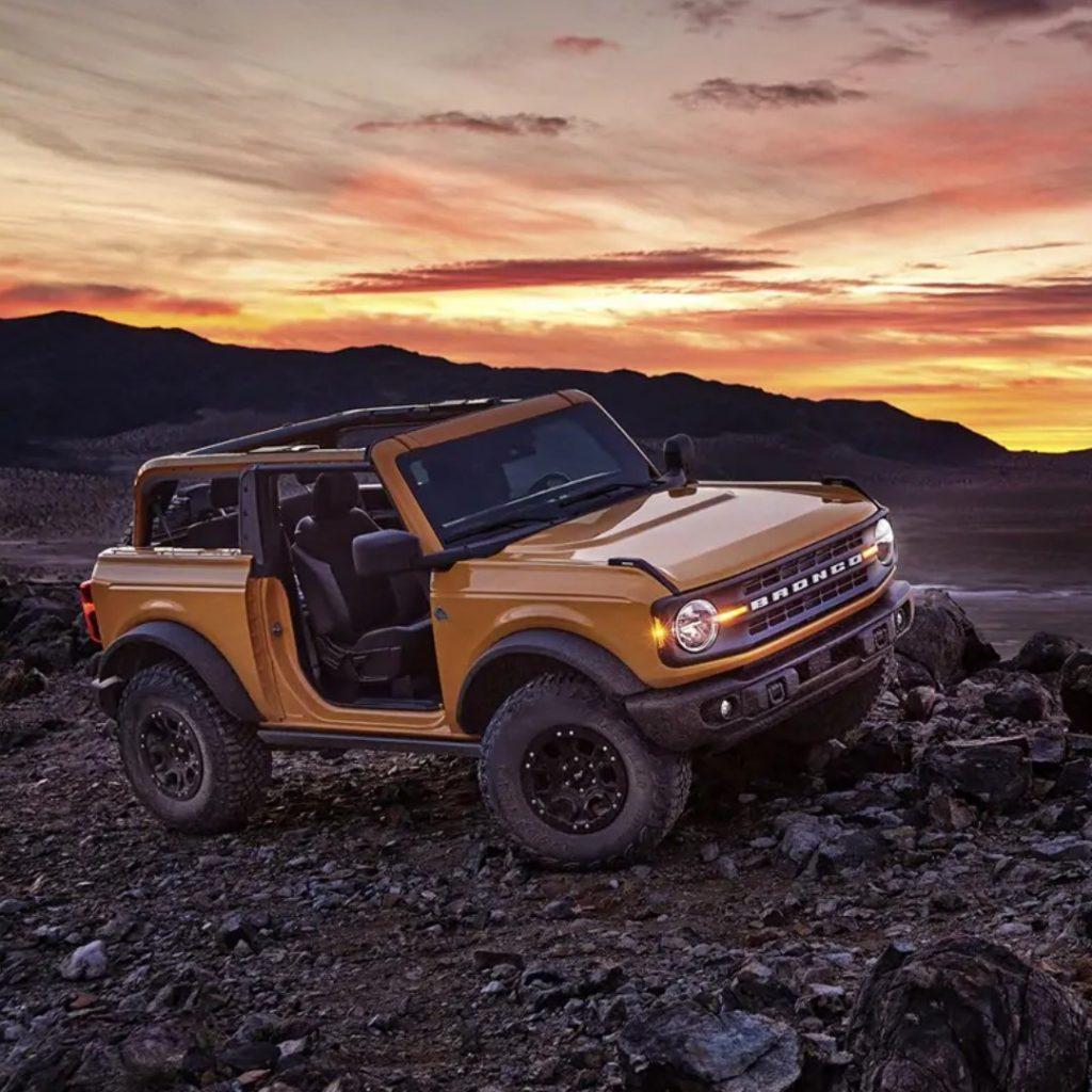 2021 Ford Bronco 2-Door on rough terrain