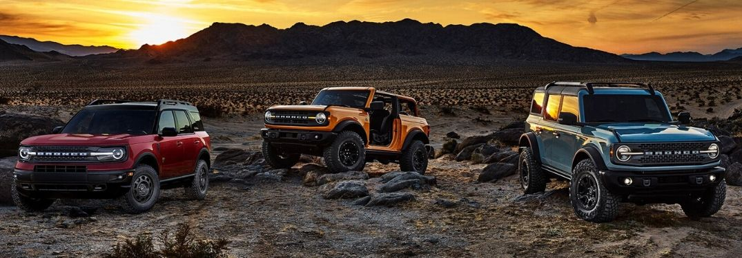 2021 Ford Bronco and 2021 Ford Bronco Sport