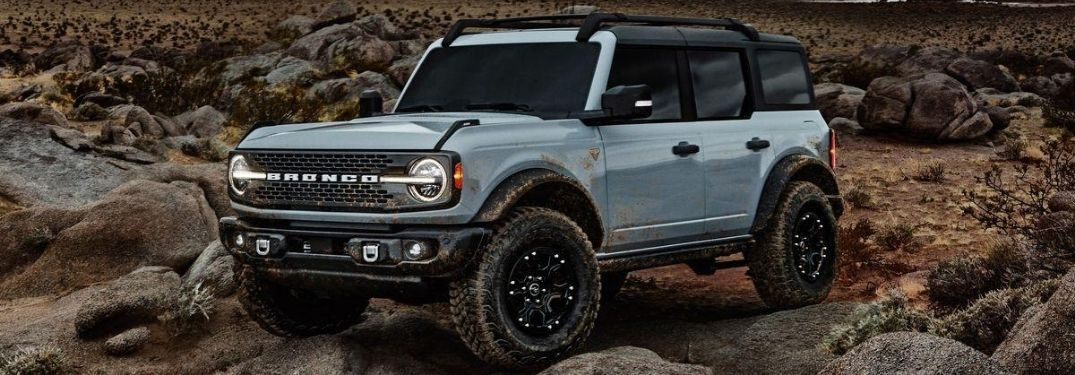 2021 Ford Bronco on rocky terrain