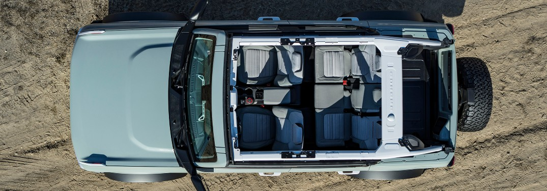 2021 Ford Bronco 4-door viewed from above