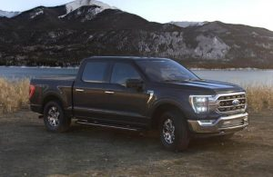 2021 Ford F-150 in color Agate Black Metallic