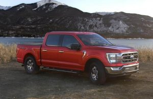 2021 Ford F-150 in color Rapid Red